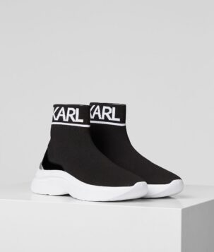Karl Lagerfeld | Skyline knit ankle pull-on sneaker