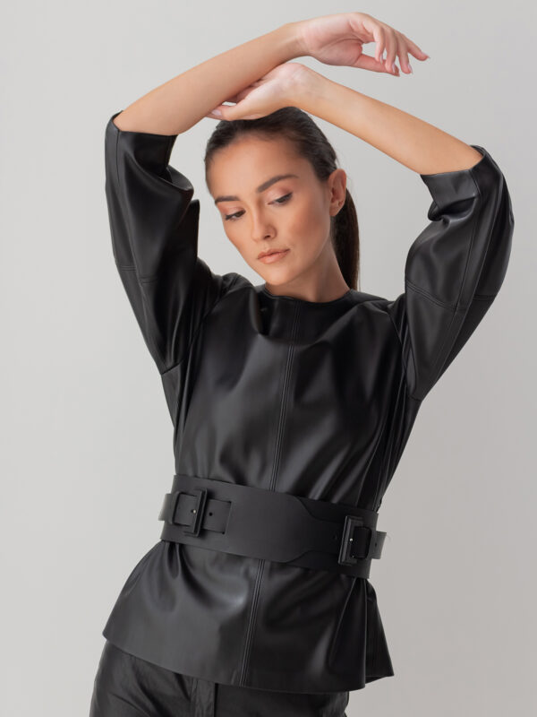 Sotris collection | Leather blouse