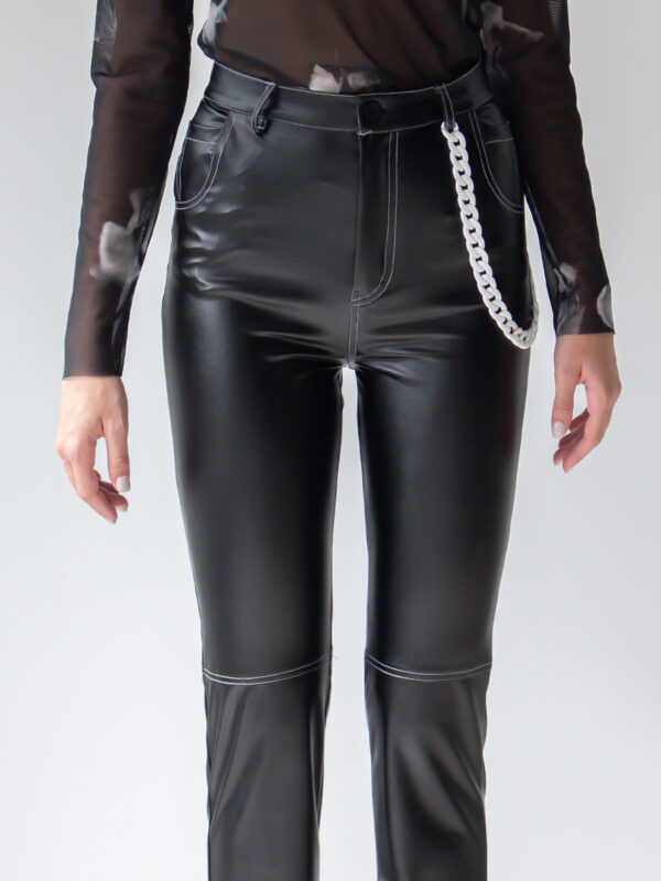 Sotris collection | Black leather-effect pants