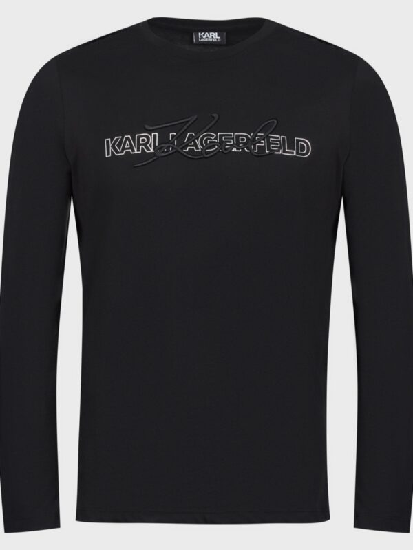 Karl Lagerfeld | Long sleeve logo crewneck t-shirt