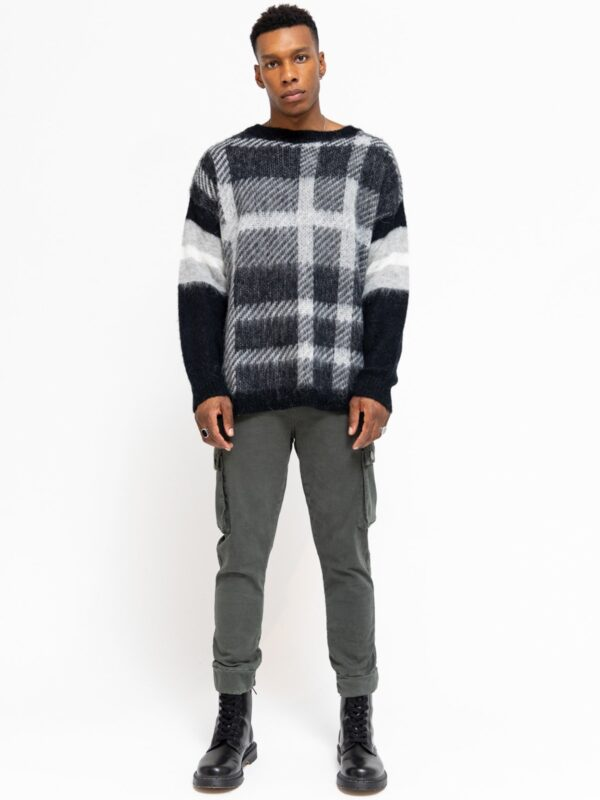 Be Edgy | Be caron check motif sweater