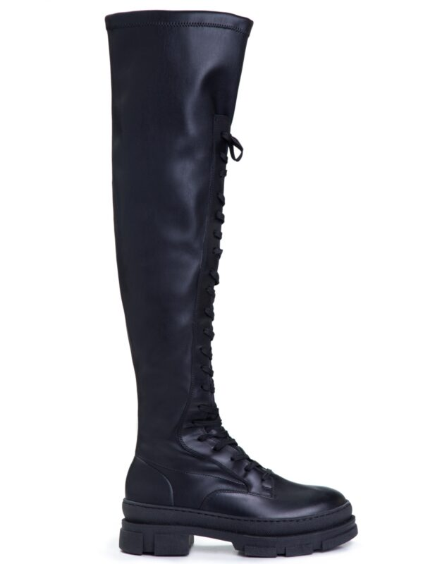 Makris | Lace up over the knee boots