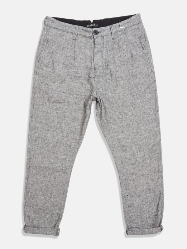 Gabba | Rolled-cuff linen trousers