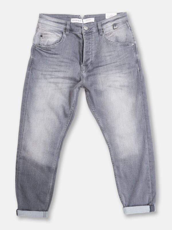 Gabba | Grey tapered faded jeans