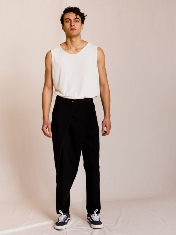 Dante | Pleated wrap front trousers