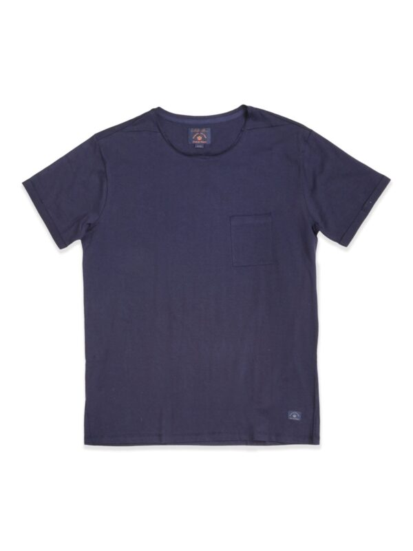 Blue de genes | Blue roll-up t-shirt