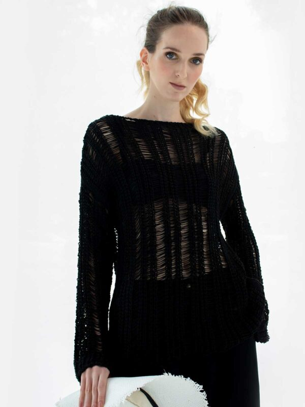 Sotris collection   Crochet knitted blouse