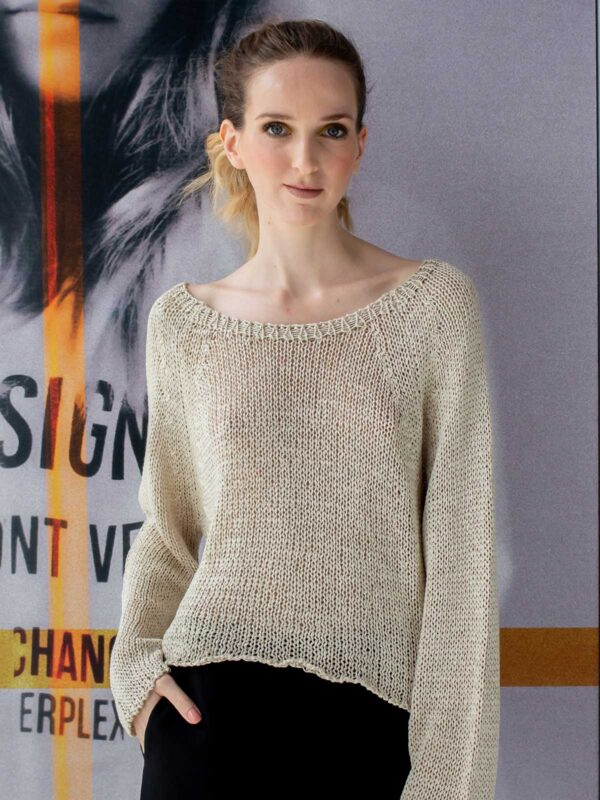 Sotris collection   Crop knitted blouse