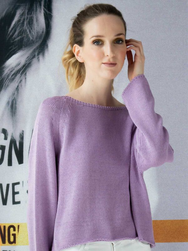 Sotris collection | Purple crop knitted blouse
