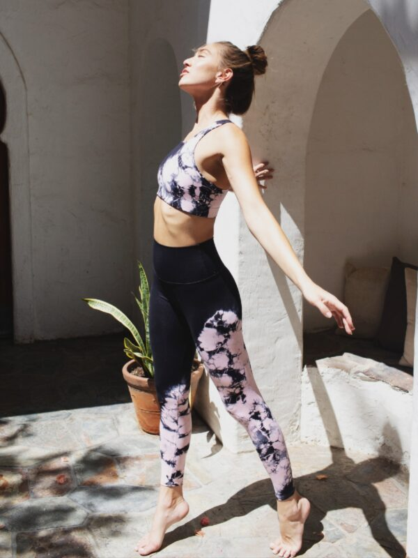 Electric and Rose | Tie-dye wide waistband leggings
