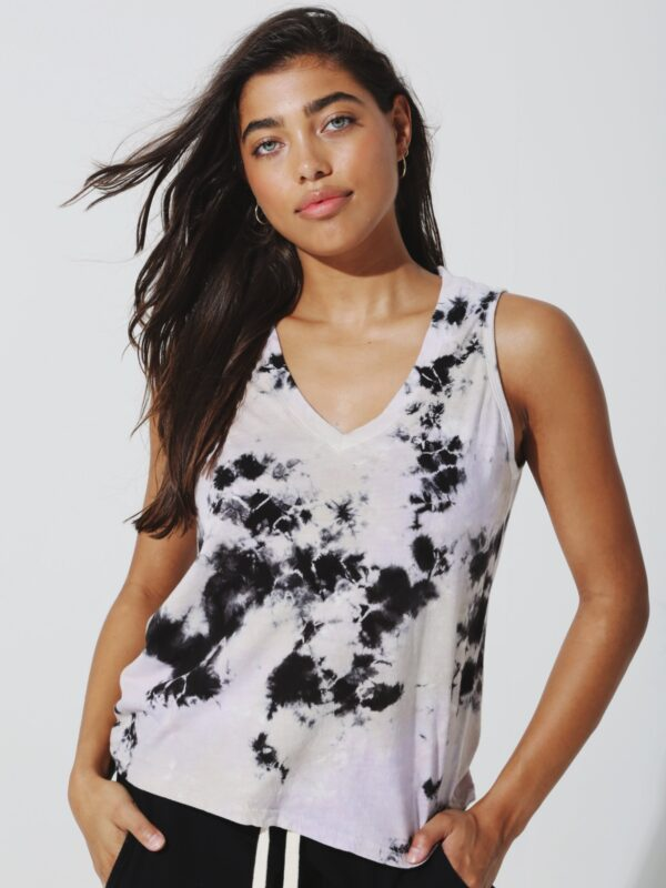 Electric and Rose | Tie-dye tank top
