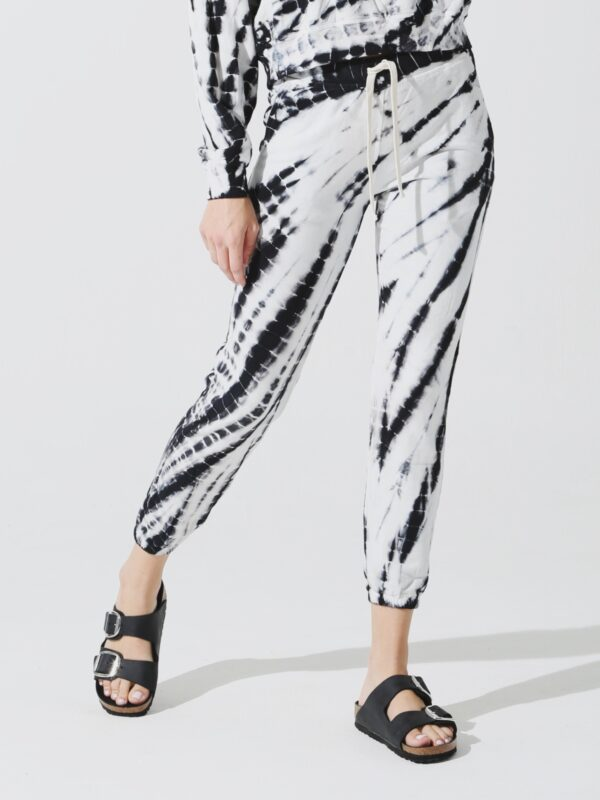 Electric and Rose | Black and white tie-dye sweatpants