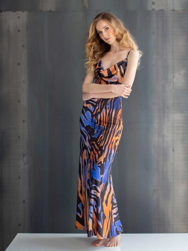 Sotris collection | Striped floor-length mermaid dress