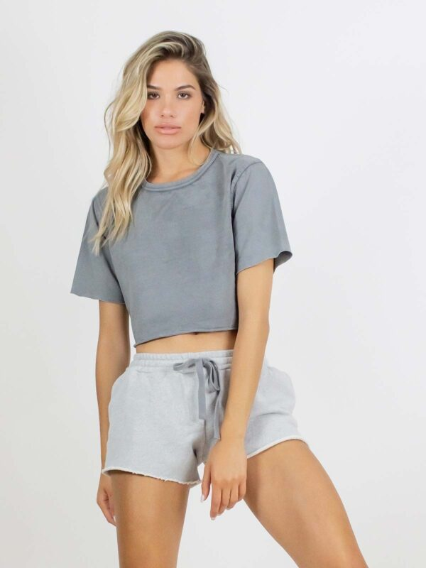 Crossley   Faded cropped t-shirt