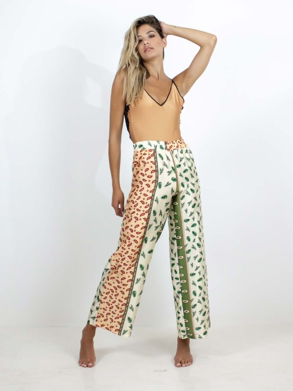 Sotris collection   Leaf printed trousers