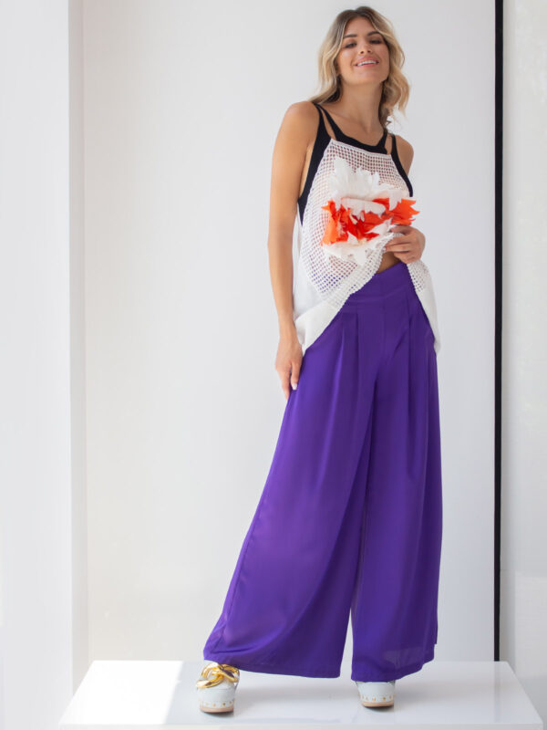 Amaris | Pleated flare trousers