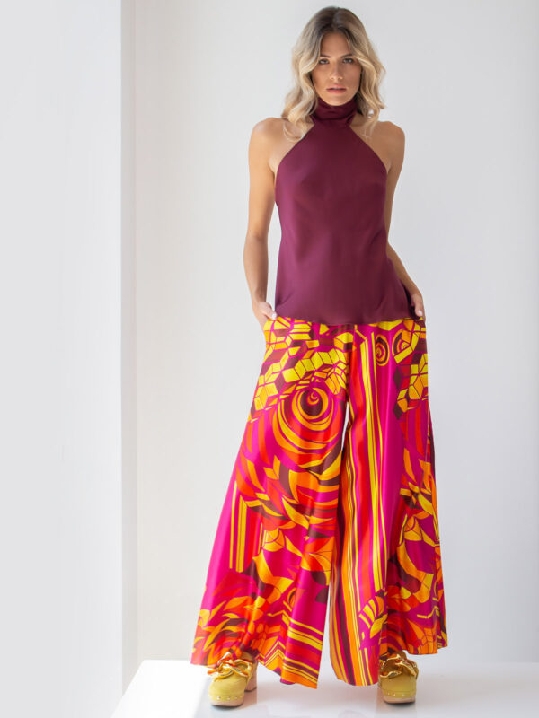 Amaris | Printed flare trousers