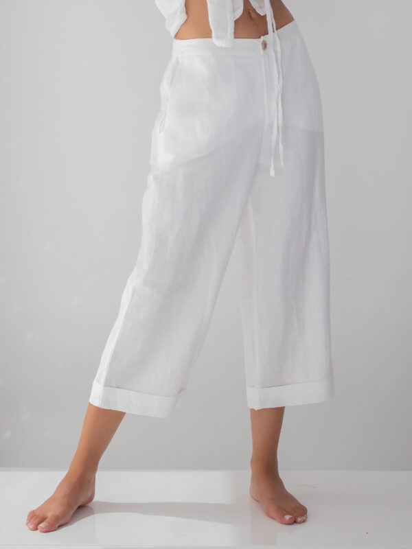 Sotris collection | Rolled-cuff flare trousers
