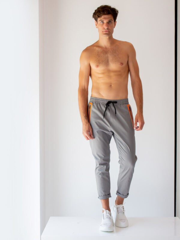 Ice Play | Drawstring pants with contrast pockets