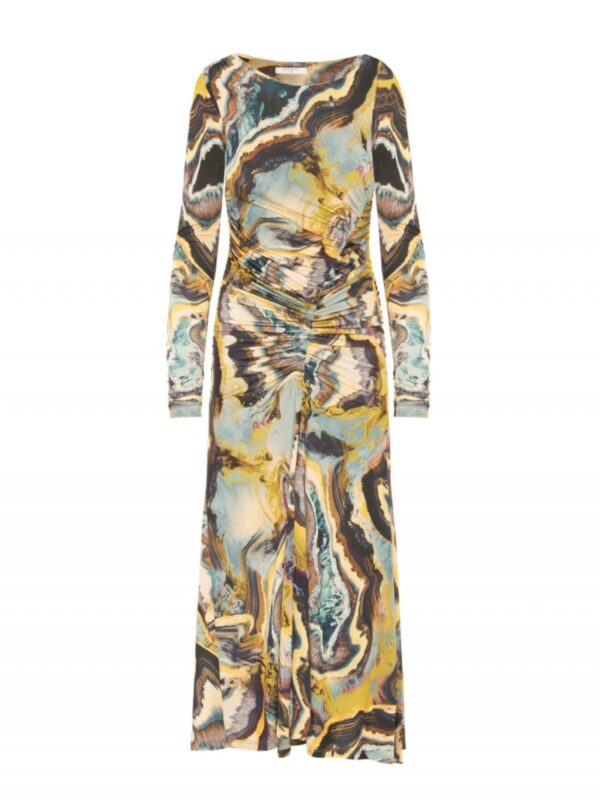 Beatrice | Printed ruched dress